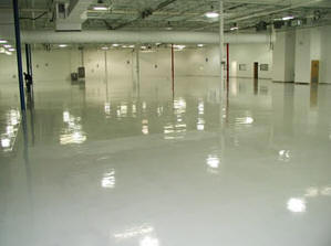 esd epoxy paint and esd sealer over standard concrete