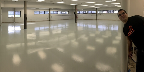 White Diamond ESD Epoxy Flooring