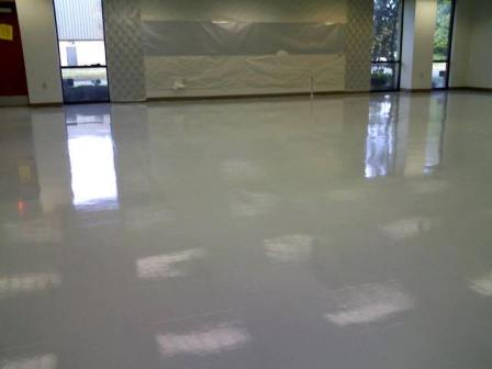 Photo:ESD Epoxy floor paint over VCT=COMPLIANCE to S 20.20-2014!