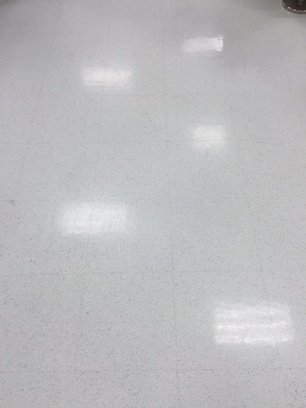 Before application of ESD Floor Wax