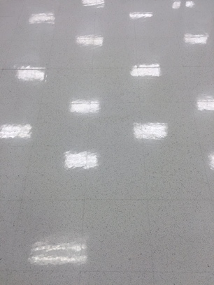 After application of ESD Floor Finish