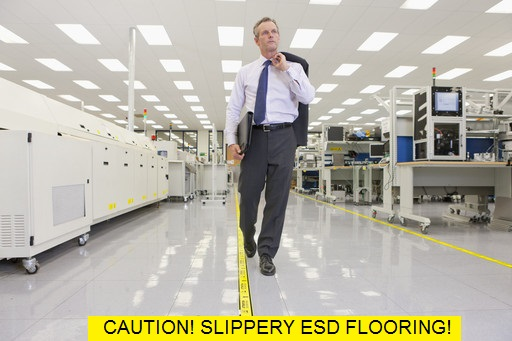 Slip Not The Cure For Slippery Esd Flooring