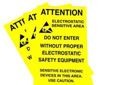 double sided esd warning signs for hanging photo
