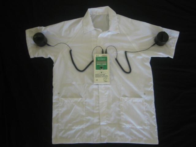 sleeve to sleeve testing of esd smocks for static control photo