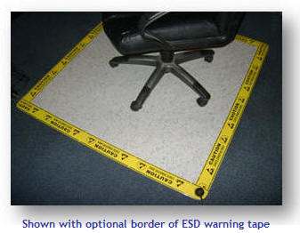 ESD chair mat for hard surface floors